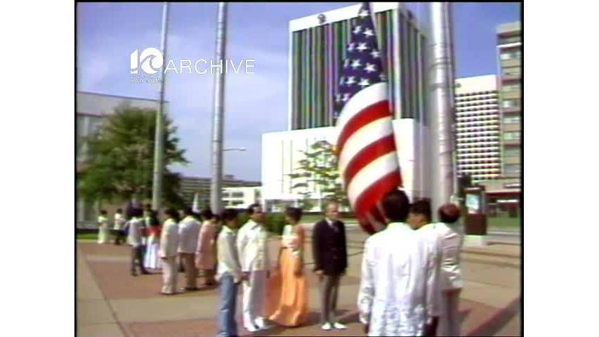 WAVY Archive: 1981 Phillippine Ceremony