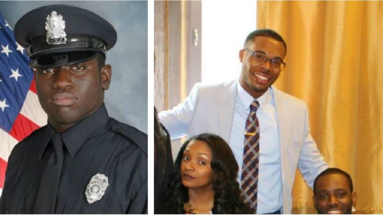 Officer Michael Nyantakyi (left) andMarcus-David Peters