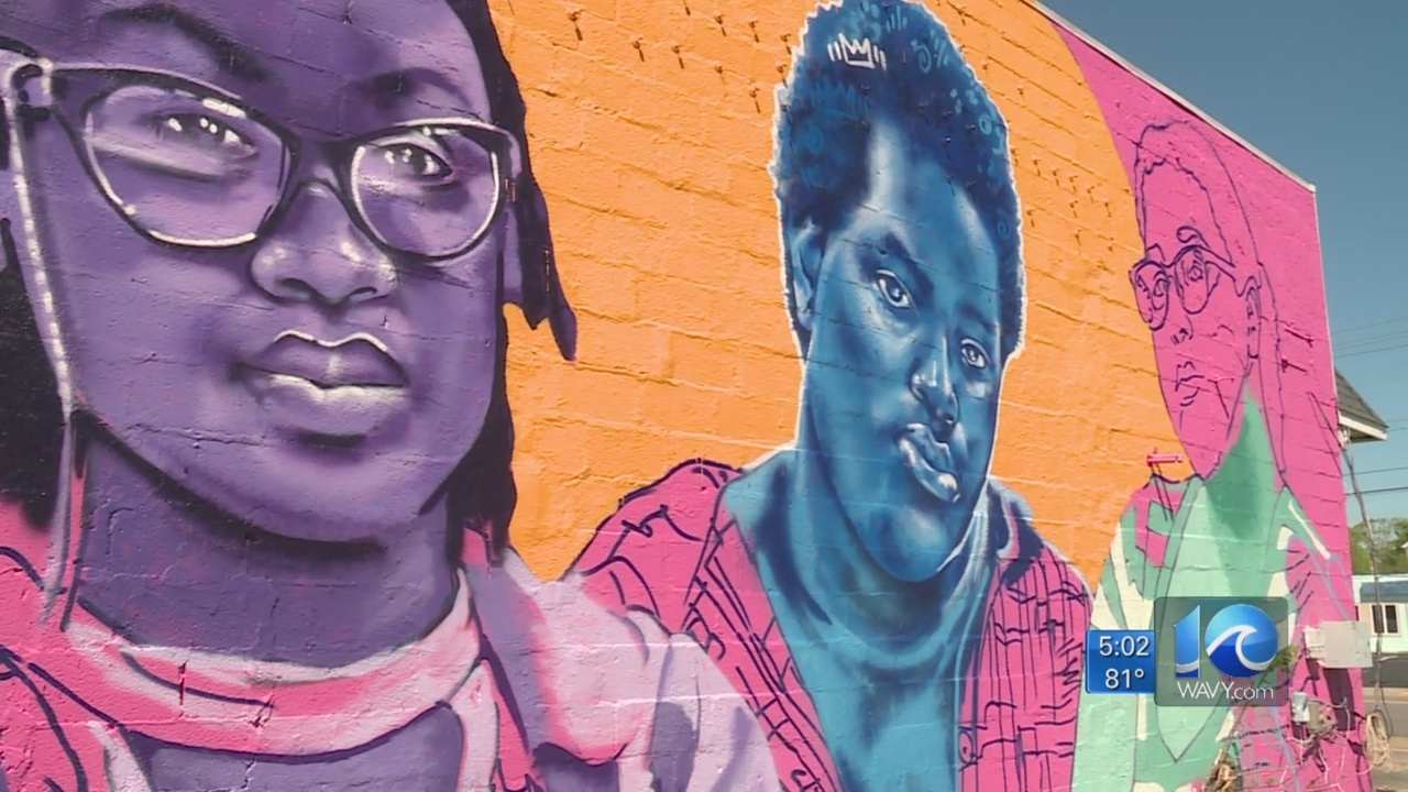 Murals for Something in the Water highlight local talent