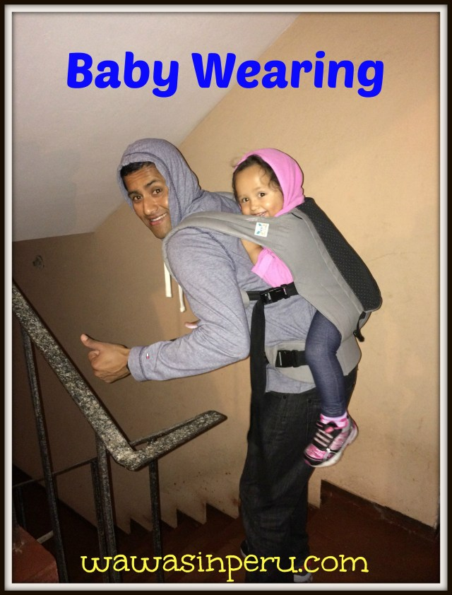 Daddy baby wearing