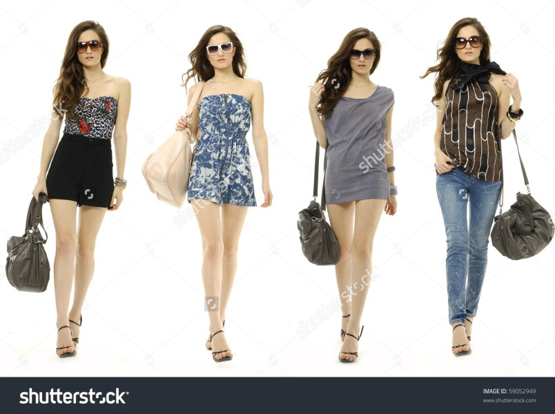 stock photo bright beautiful young woman with fashion sunglasses and     stock photo bright beautiful young woman with fashion sunglasses and handbag collage 59052949    http   www waxbarla com