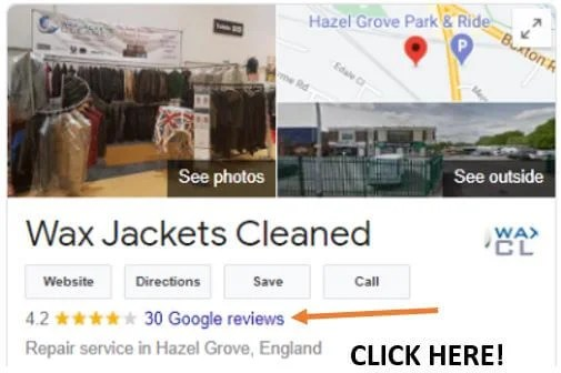 This is where to leave Google reviews.