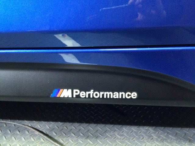 M Performance Decal Applied on the Side Skirts. We ensured that the badges are level and applied.