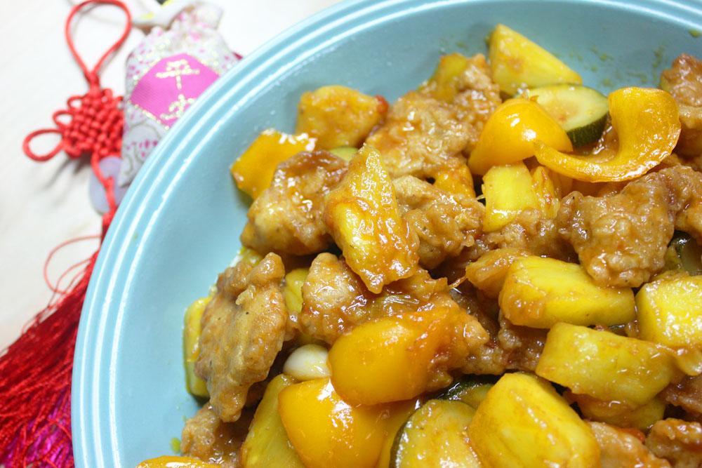 Pineapple fried sweet sour pork loin way2wok pineapple fried sweet sour pork loin print recipe forumfinder Images