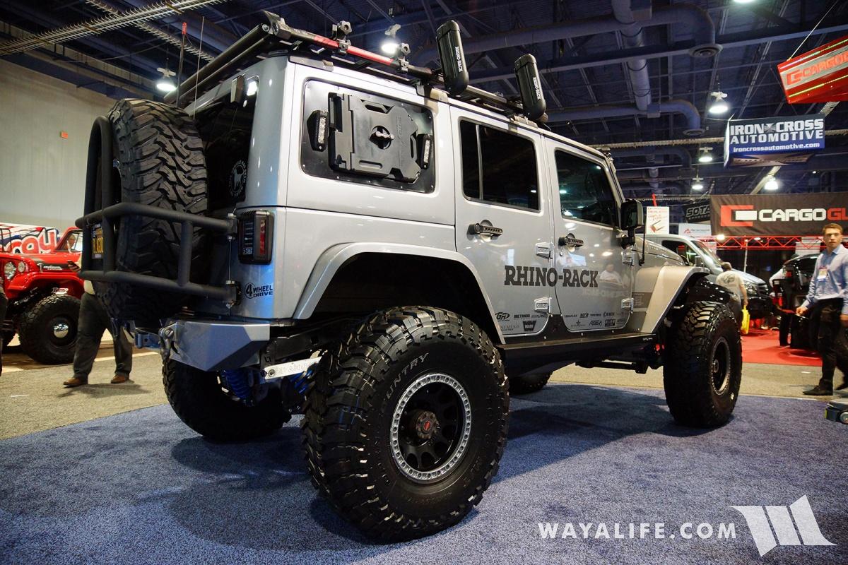 2017 sema rhino rack ironman jeep jk
