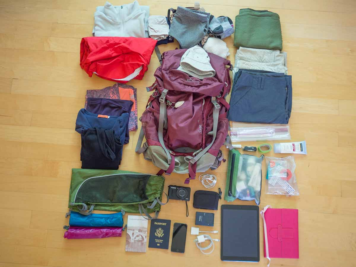 Your complete camino de santiago packing list for Best way to pack shirts