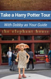 Dobby from Harry Potter is the best tour guide. With a snap of his fingers, he'll take you on a magical Harry Potter tour of the UK