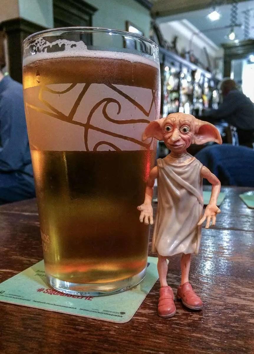 Dobby visit Sandy Bell's Bar