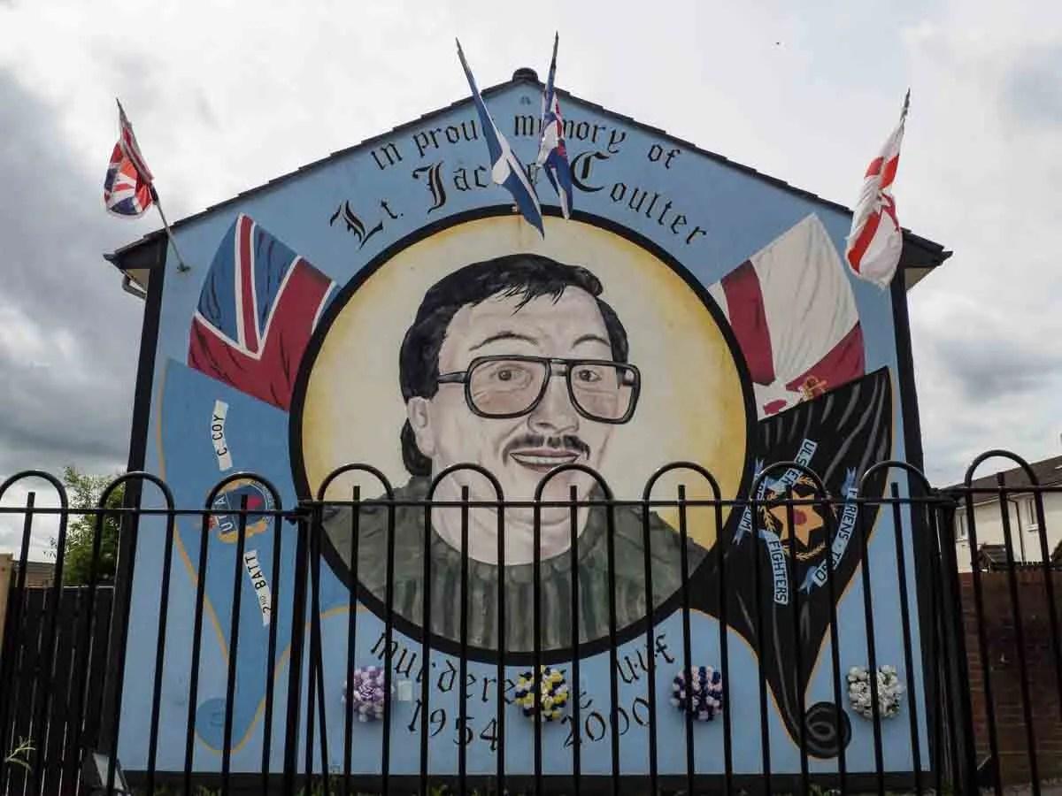Belfast street murals- Coulter