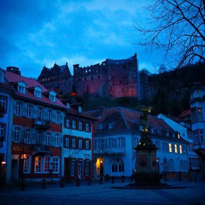 Schloss Heidelberg at Dusk