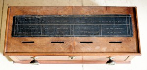 COLLECTION BOX Made by Samuel Stone Noyes for First Parish Church.