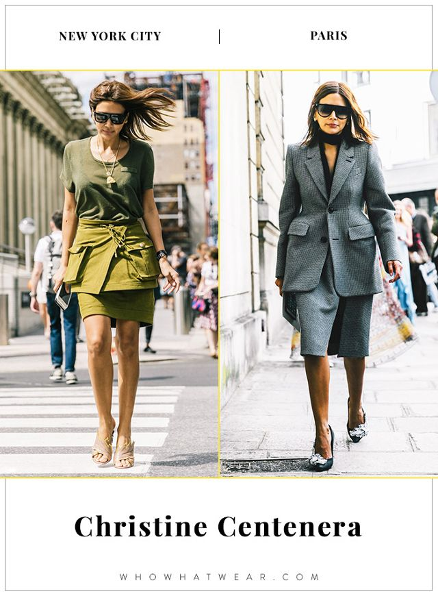 New York vs  Paris  How Style Stars Dress in Different Cities     Christine Centenera NYFW and PFW Street Style