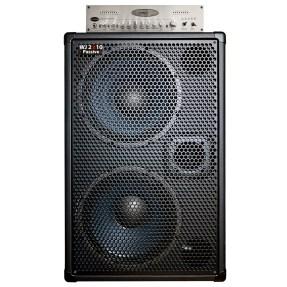 WJBA2 1000 Watt Bass Guitar Amplifier with 6 band eq Bass Pre-Amp, 1000 Watts into 4 or 8 Ohms with Passive 2x10 700 Watt Cab