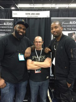 André Bowman (Bassist for Usher) & his friend Keith, (drummer from Black Eyed Peas) - Wayne Jones as the arm rest.
