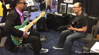 Nate Phillips & Wayne Jones Jam at Wayne Jones Audio NAMM 2016 Booth. Wayne Jones AUDIO - Hi Powered, Hi End Bass Cabinets, Hi Fi Studio Monitors & Stereo Valve Bass Pre-Amp