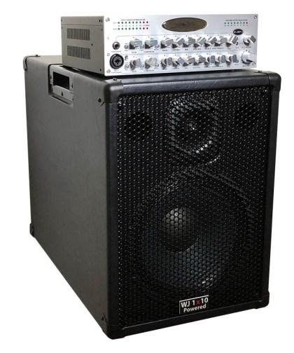 Wayne Jones Audio - 5000 Watt 1x10 Powered Bass Guitar Speaker Cabinet with WJBPII twin channel bass guitar pre-amp