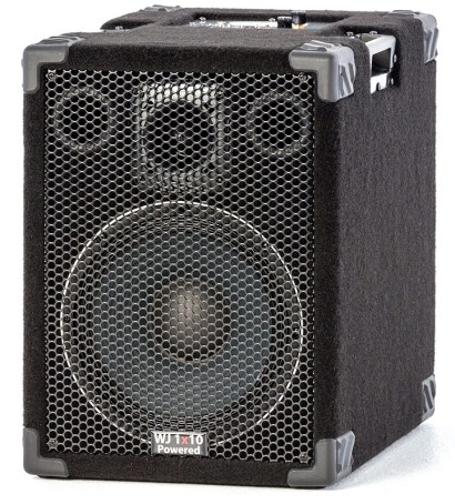 Wayne Jones Audio - 1000 Watt 1x10 Powered Bass Cabinet for bass guitar players & double bass players. Bass guitar amp/powered bass guitar speaker .