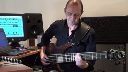 Wayne Jones at home playing his version of & tribute to Marcus Miller's Run For Cover. From Wayne Jones CD Forgotten Melody.