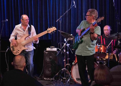 Bass Players Wayne Jones and Robbie Little & Fallon Williams @ Bird's Basement jazz club in Melbourne 3 July 2016