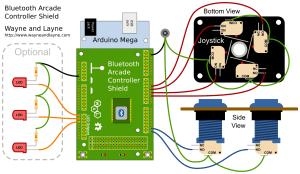 Bluetooth Arcade Controller | Wayne and Layne