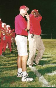 Asst. Coach Brian Clawson with Coach Norwell