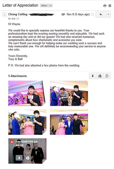 wedding emcee testimonials