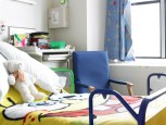 A bedroom for families at GOSH