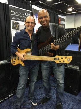 Bass players Wayne Jones Audio & endorsee Mark Peterson @ NAMM 2016