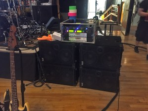 "Why do things by halves? Do them with 4000 Watts!!! Carl Young Music, bassist for Michael Franti and Spearhead showing ""Now this is a bass rig!"""
