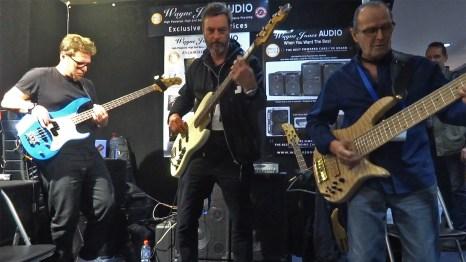 Bass Players Drew Dedmon, Chris Bekker, Wayne Jones - Melbourne Guitar Show 2016