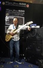 Wayne Jones with his Custom Fodera Monarch 6 - Melbourne Guitar Show 2016