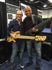 Bass players Wayne Jones and Mark Peterson at NAMM 2016