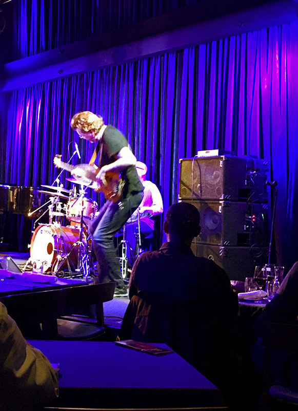 Jimmy Haslip performing with Jeff Lorber's Fusion at Birds Basement jazz club, Melbourne