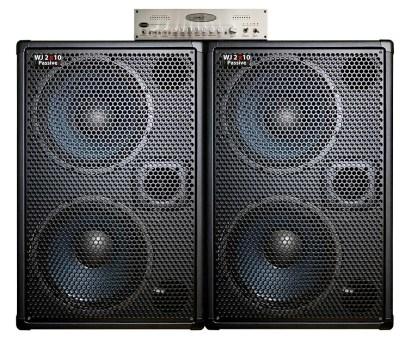 WJ 700 Watt Passive 2x10 Bass Cabinets - 8 Ohms, Compact, Hi End, Crystal Clear, Full Range 2×10 Bass Cabinet (40 Hz – 20 KHz), WJBA2 WJBA2 1000 Watt Stereo Power Amplifier