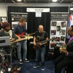 Andre Berry, Wayne Jones and Nate Phillips. NAMM 2016 Wayne Jones AUDIO booth.