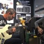Chris Bekker and Simon Hosford - Wayne Jones AUDIO stand, Melbourne Guitar Show 2016