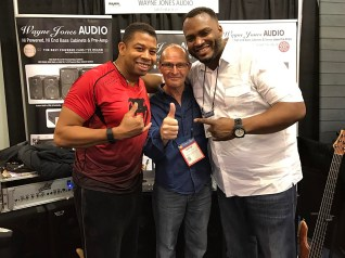 Bass players David Dyson, Wayne Jones and Garrett Body - NAMM 2017