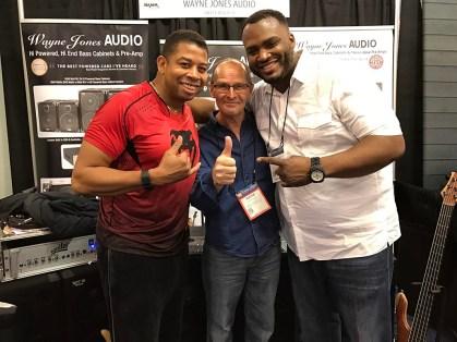 Bass players David Dyson, Wayne Jones and Garrett Body - NAMM 2017