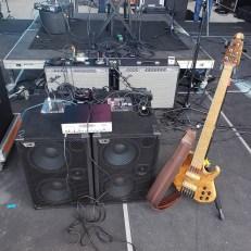 David Dyson's bass guitar rig for Seabreeze Jazz Festival 2019