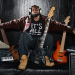 André Bowman. André is currently playing bass with Usher. He also plays with Will I Am, Black Eyed Peas