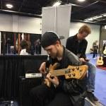 Fodera Monach 5 Deluxe bass guitar through a Wayne Jones Audio rig @ NAMM 2016