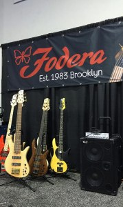 Fodera booth @ NAMM 2016 with a Wayne Jones AUDIO rig