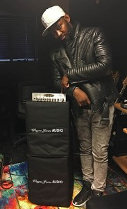 Guitarist Isaiah Sharkey uses the Wayne Jones Audio WJ 1x 10's (1000 Watt 1x10 / 500 Watts per side) with the WJBP Stereo Valve Bass Pre-Amp as a guitar rig.