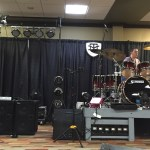 Wayne Jones AUDIO bass guitar speaker rig on main stage at Nashville Music Gear Expo 2015