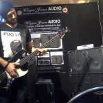 Wayne Jones AUDIO stand, Melbourne Guitar Show 2016