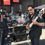 Nathaniel Phillips on stage at the Seabreeze Jazz Festival 2017 using two WJ2x10 Powered Bass Cabs (2000 Watts) & WJBP Bass Guitar Pre-Amp rig.