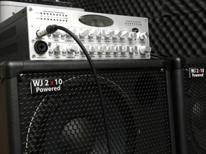 WJBPII TWIN CHANNEL BASS PRE-AMP, featuring the option of phantom power on the second channel.