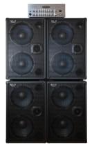 WJBA 2000 Watt Bass Guitar Amplifier with four WJ 700 Watt Passive 2x10 Bass Cabinets - 8 Ohms, Compact, Hi End, Crystal Clear, Full Range 2×10 Bass Cabinet (40 Hz – 20 KHz)