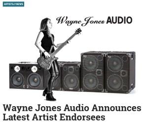 Bass Player Magazine Artists News - Wayne Jones announces new endorsees, Maurice Fitzgerald, Derrick Ray, Garrett Body, Drew Dedman, Jess Riley