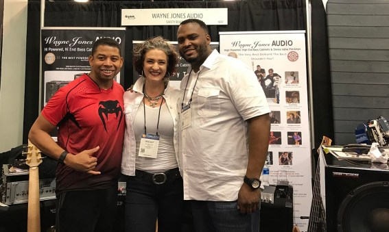 "David Dyson, Ashling ""Biscuit"" Cole, Garrett Body at NAMM 2017"